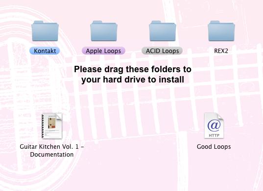 Guitar Kitchen Folder Screenshot